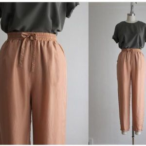 Vintage silk trousers